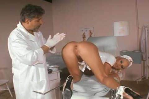 Smoking kinky nurse butthole-team-pounded