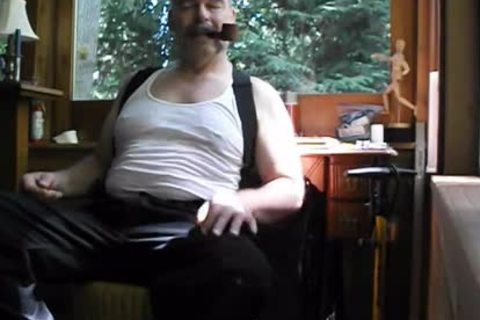Enjoying A Pipe, Stripping Down To My underclothing And nude Feet. PG-rated.