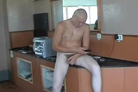 stripped Russian Soldier In A Gym