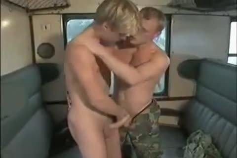 Military blond And train