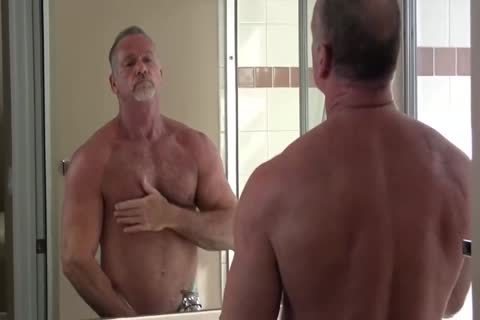 lovely Muscle Daddy Mikey Shower jack off