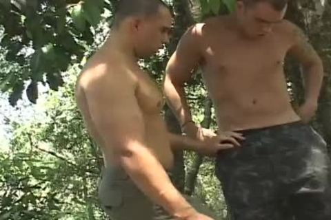 Army males and their hard unprotected rods